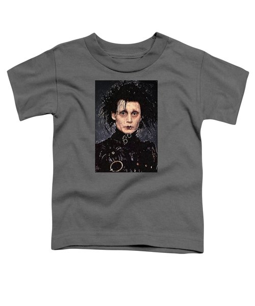 Edward Scissorhands Toddler T-Shirt by Taylan Apukovska