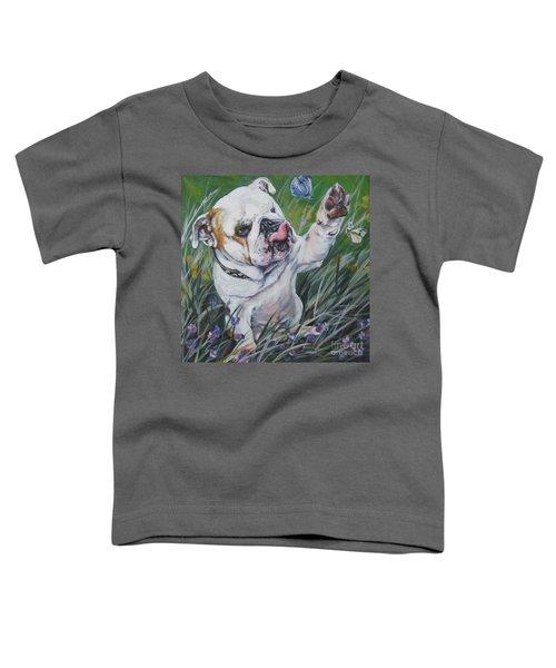 English Bulldog Toddler T-Shirt by Lee Ann Shepard