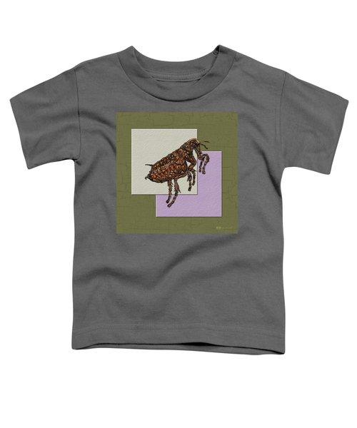 Flea On Abstract Beige Lavender And Dark Khaki Toddler T-Shirt