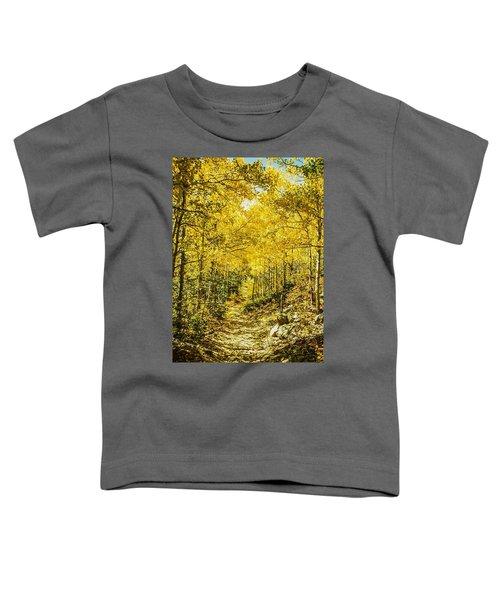 Golden Aspens In Colorado Mountains Toddler T-Shirt
