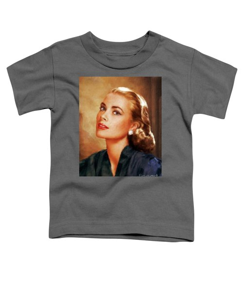 Grace Kelly, Actress And Princess Toddler T-Shirt by Mary Bassett