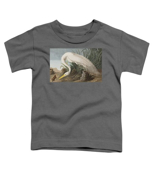 Great Egret Toddler T-Shirt by John James Audubon