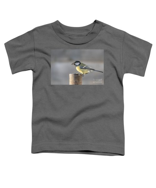 Great Tit On The Tube Toddler T-Shirt