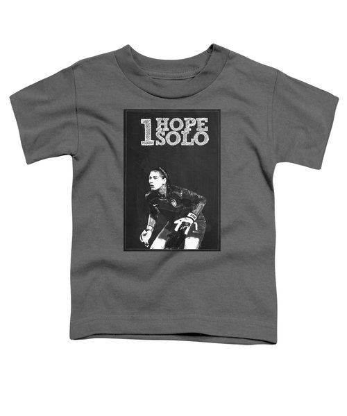 Hope Solo Toddler T-Shirt by Semih Yurdabak