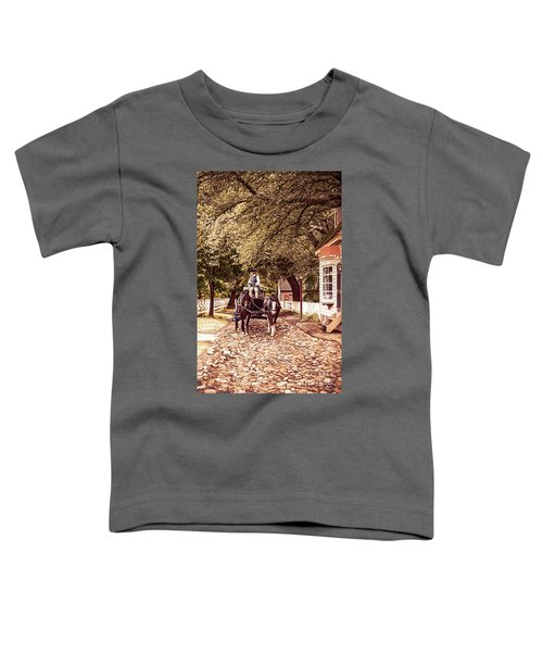 Horse Drawn Wagon Toddler T-Shirt