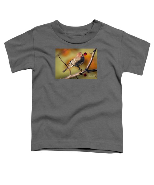 House Finch Toddler T-Shirt by Ricky L Jones