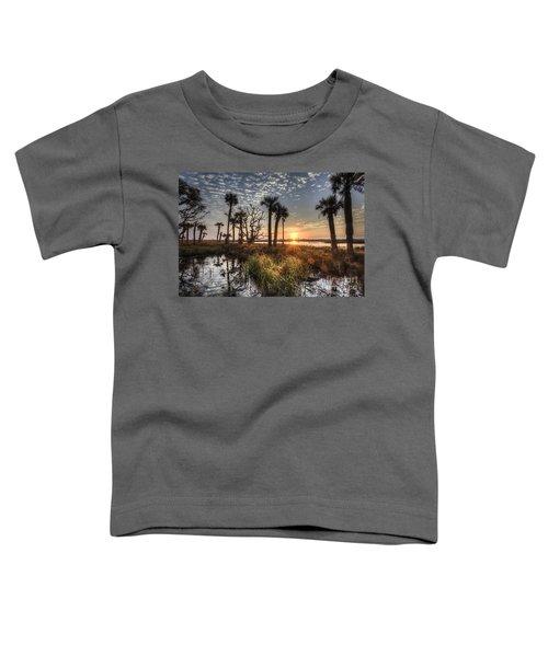 Hunting Island State Park Beach Sunrise Toddler T-Shirt