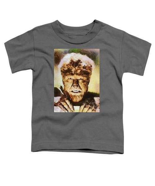 Lon Chaney Jr, As The Wolfman Toddler T-Shirt