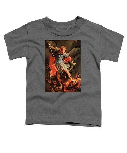 Michael Defeats Satan Toddler T-Shirt