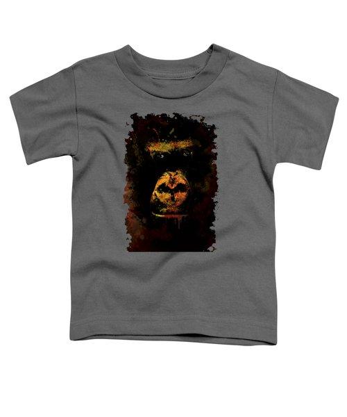 Mighty Gorilla Toddler T-Shirt by Jaroslaw Blaminsky