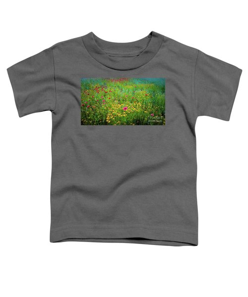 Mixed Wildflowers In Bloom Toddler T-Shirt