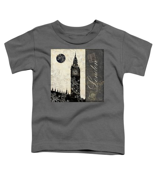 Moon Over London Toddler T-Shirt by Mindy Sommers
