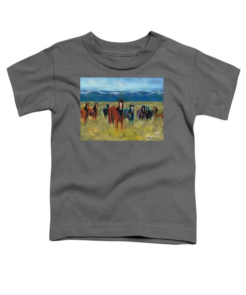 Mustangs In Southern Colorado Toddler T-Shirt
