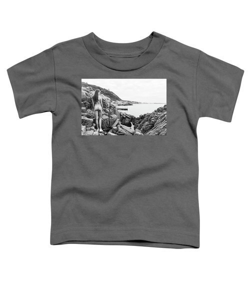 Nude Girl On Rocks Toddler T-Shirt
