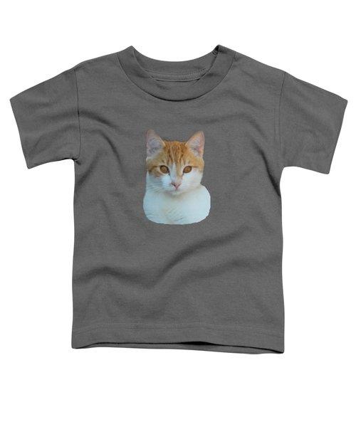 Orange And White Cat Toddler T-Shirt
