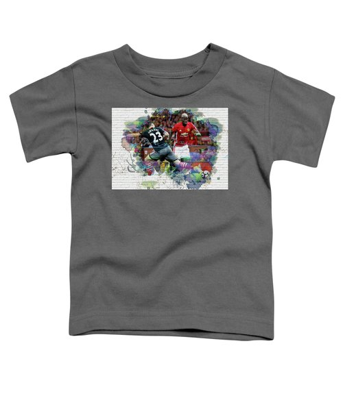 Pogba Street Art Toddler T-Shirt by Don Kuing