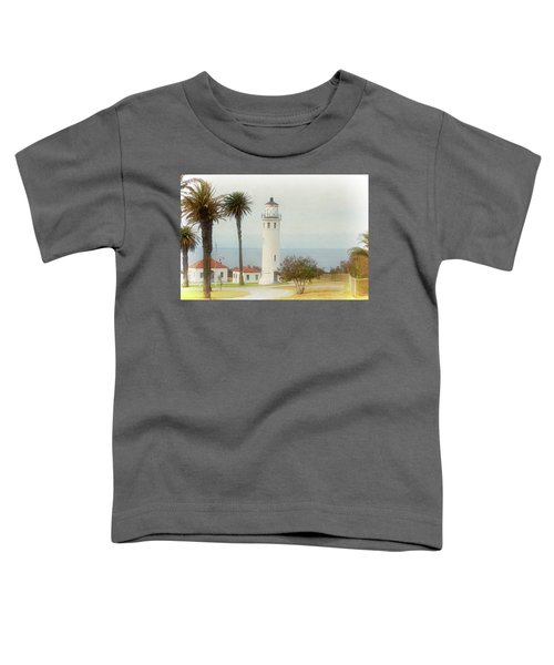 Point Vincente Lighthouse, California In Retro Style Toddler T-Shirt