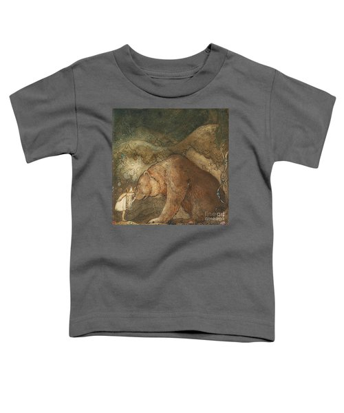 Toddler T-Shirt featuring the painting Poor Little Bear by John Bauer
