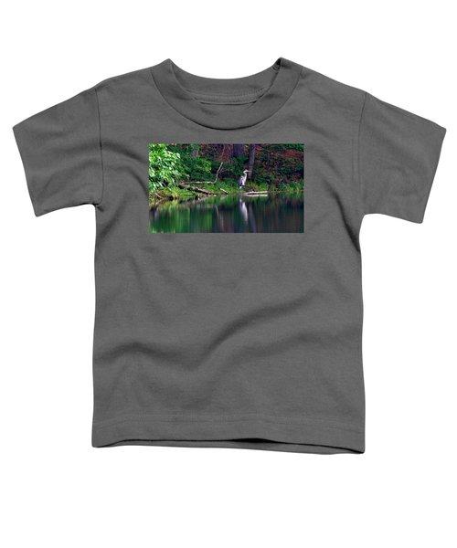 Posing Great Blue Heron  Toddler T-Shirt