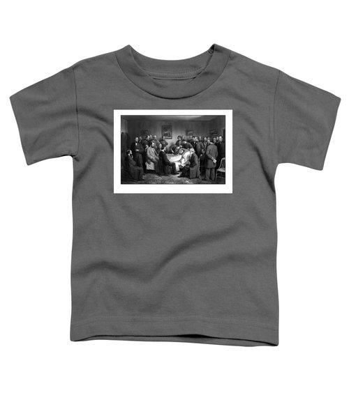 President Lincoln's Deathbed Toddler T-Shirt