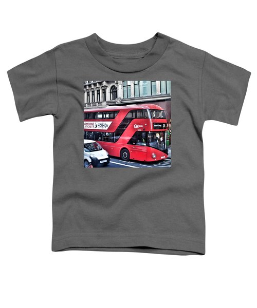 Red Bus In London  Toddler T-Shirt
