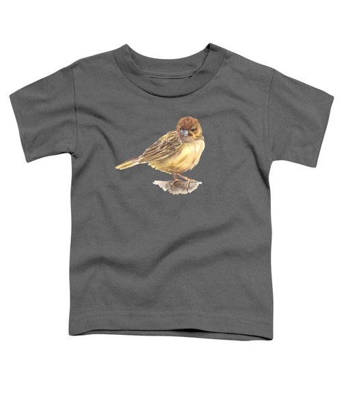 Sparrow Toddler T-Shirt by Katerina Kirilova