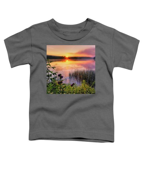 Toddler T-Shirt featuring the photograph Summer Sunrise Square by Bill Wakeley