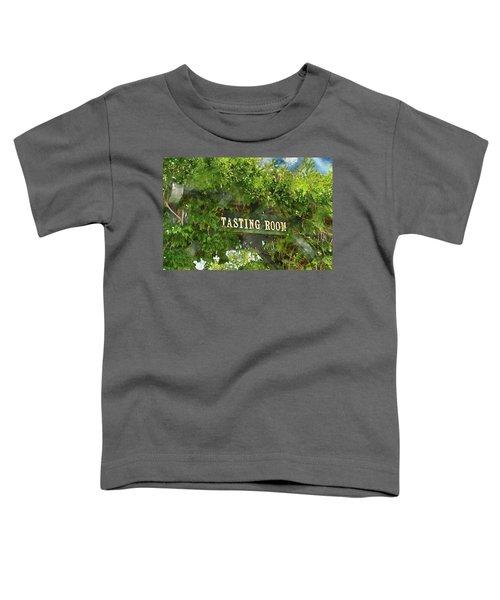 Tasting Room Sign Toddler T-Shirt