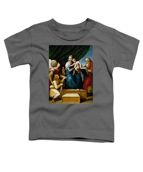The Virgin With A Fish Toddler T-Shirt