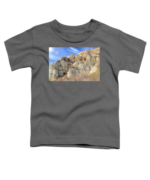 Toddler T-Shirt featuring the photograph Unstable Cliffs by Alison Frank