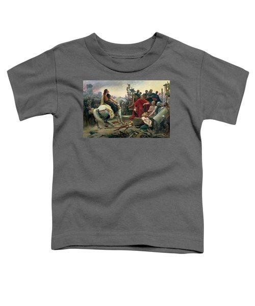 Vercingetorix Throws Down His Arms At The Feet Of Julius Caesar Toddler T-Shirt