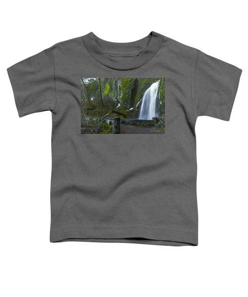 Wahkeena Falls Bridge Signed Toddler T-Shirt