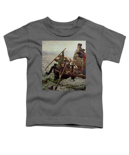 Washington Crossing The Delaware River Toddler T-Shirt by Emanuel Gottlieb Leutze