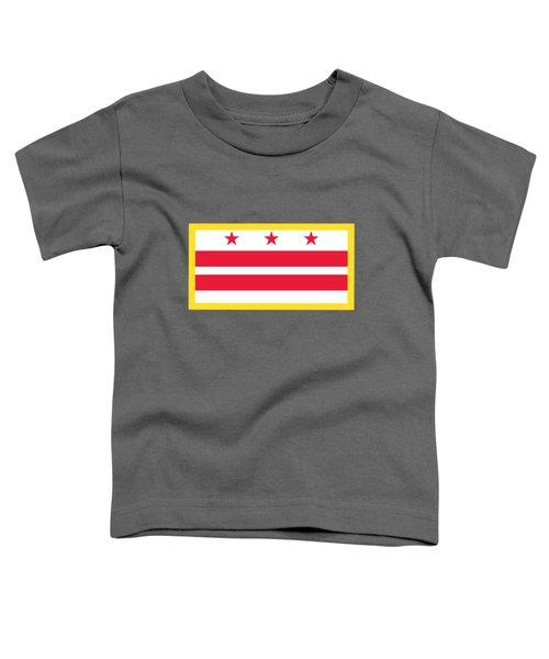 Washington, D.c. Flag Toddler T-Shirt by Frederick Holiday