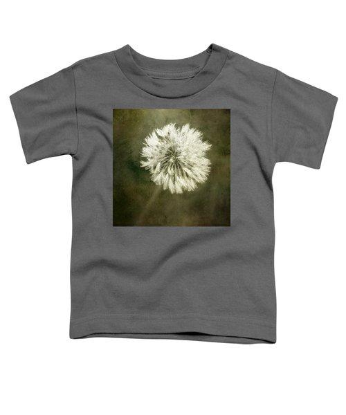 Water Drops On Dandelion Flower Toddler T-Shirt