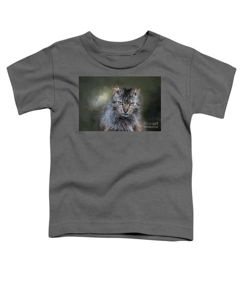 Wild Cat Portrait Toddler T-Shirt