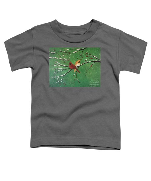 Winter Cardinals Toddler T-Shirt