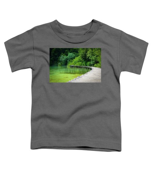 Wooden Path In The Forest Toddler T-Shirt