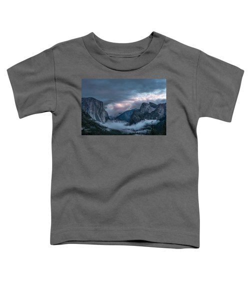 Yosemite In Clouds Toddler T-Shirt