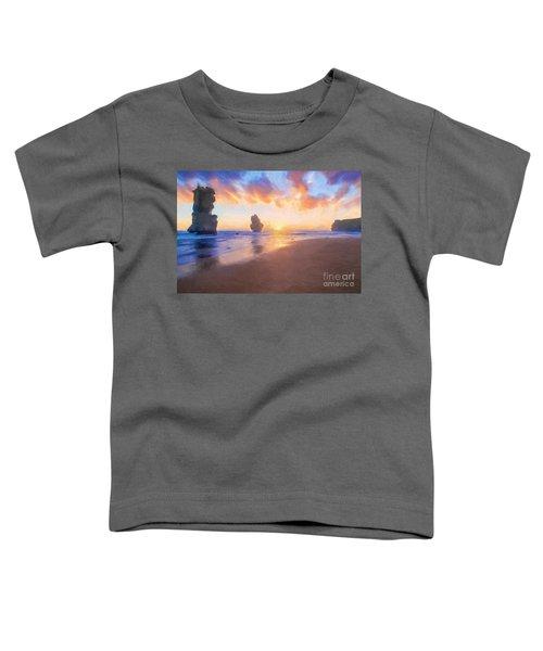 12 Apostles With Marshmallow Skies    Og Toddler T-Shirt