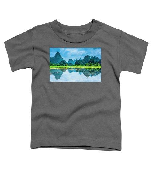 Karst Rural Scenery In Raining Toddler T-Shirt