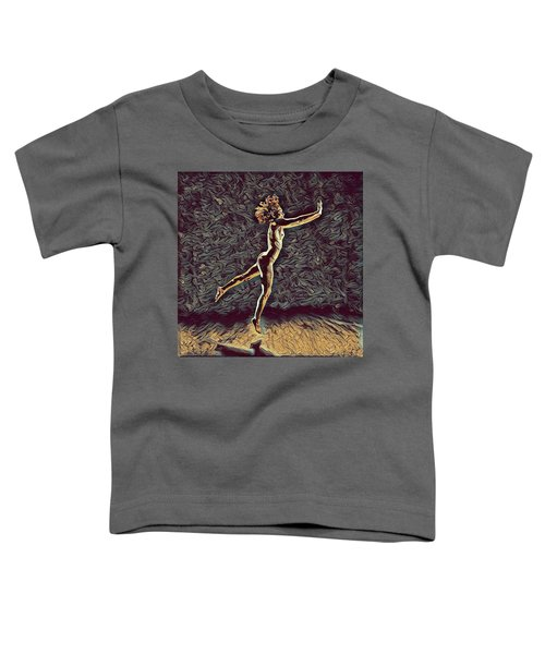 1302s-zak Naked Dancers Leap Nudes In The Style Of Antonio Bravo Toddler T-Shirt