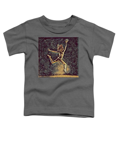 1307s-dancer Leap Fit Black Woman Bare And Free Toddler T-Shirt
