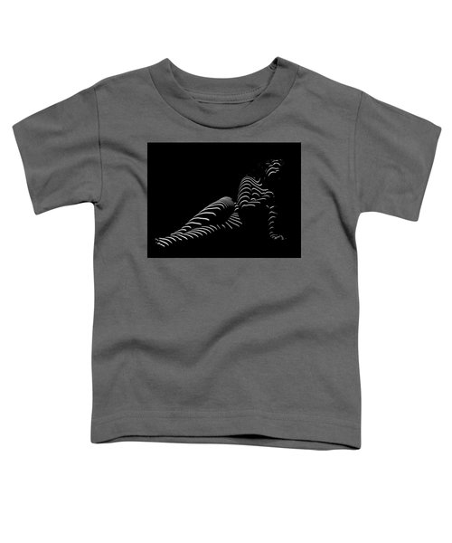 1370-tnd Zebra Woman Striped Woman Black And White Abstract Photo By Chris Maher Toddler T-Shirt