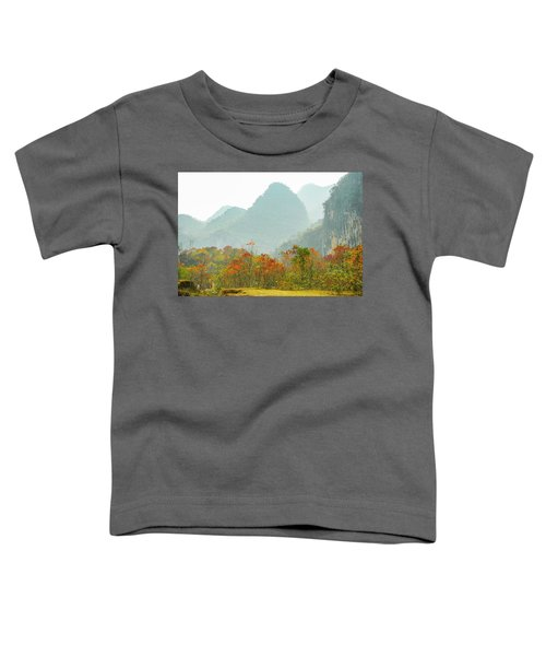 The Colorful Autumn Scenery Toddler T-Shirt