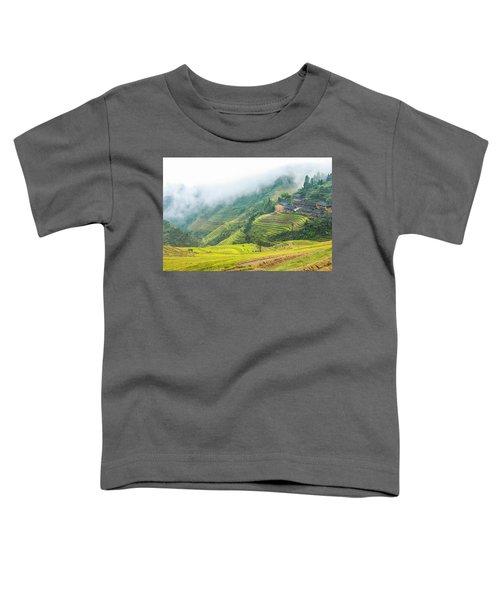Terrace Fields Scenery In Autumn Toddler T-Shirt