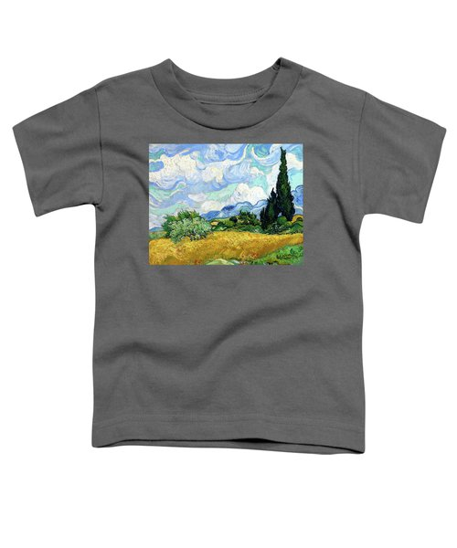Wheat Field With Cypresses Toddler T-Shirt
