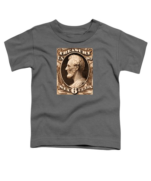 1875 Abraham Lincoln Treasury Department Stamp Toddler T-Shirt by Historic Image