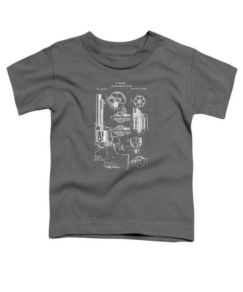 1875 Colt Peacemaker Revolver Patent Artwork - Gray Toddler T-Shirt