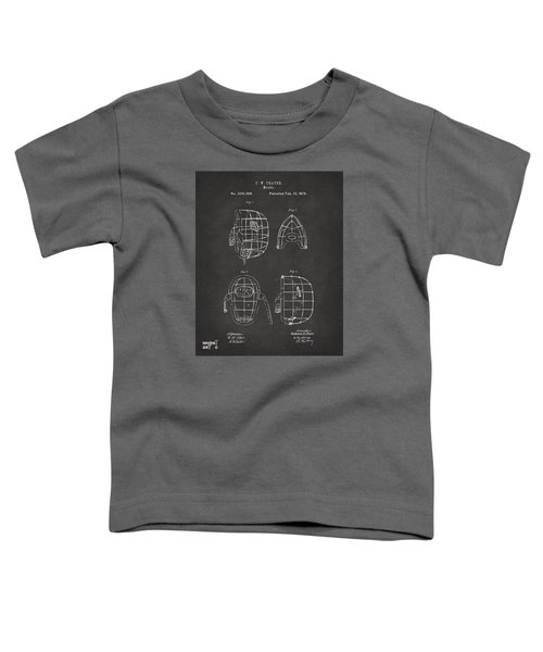 1878 Baseball Catchers Mask Patent - Gray Toddler T-Shirt by Nikki Marie Smith